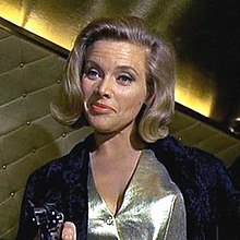Pussy Galore in 1964, Honor Blackman opposite Sean Connery as James Bond